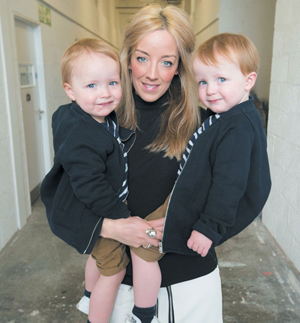 Hayley Scanlan with her boys