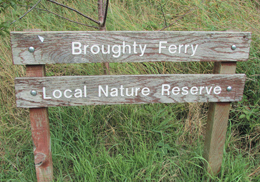 Broughty Ferry Nature Reserve Sign