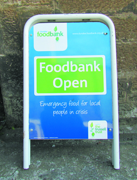 Dundee Food Banks Sign