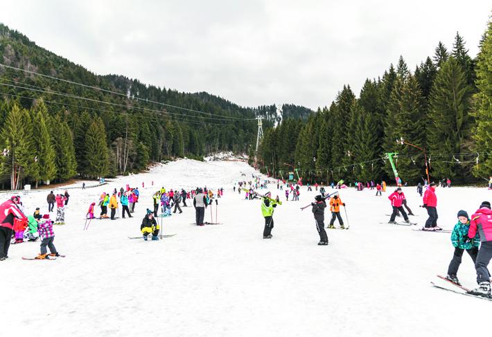 Skiing in Poiana Brașov, Romania