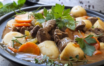 Traditional Irish Stew with Mutton and Stout