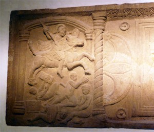 Bridgeness distance slab, from Antonine Wall