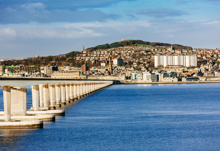 Dundee, Scotland and Tay Road Bridge