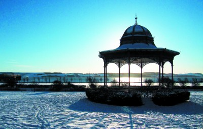 Magdalen Green Bandstand in Snow